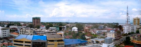 Muar, Malasia: The view from room 8021