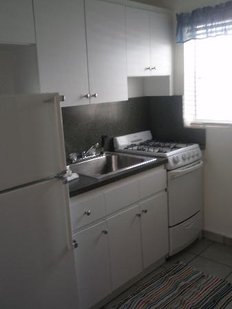 Hallandale Beach, FL: A typical kitchen in a large efficiency