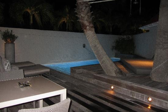Eden Rock - St Barths: The James suite Pool and lounge area