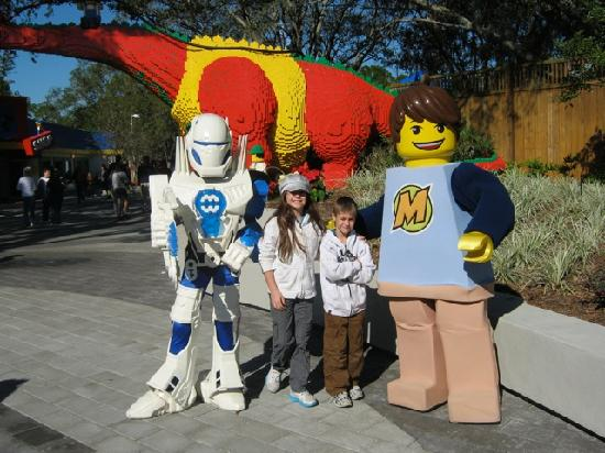 LEGOLAND Florida Resort: Kids posing with characters.
