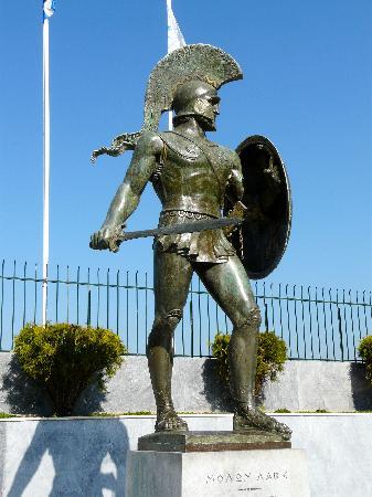 King Leonidas Real Statue of King Leonida...