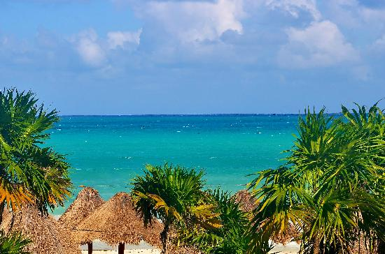 Secrets Maroma Beach Riviera Cancun: View from second floor. Ocean front.