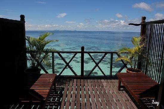 Sipadan Kapalai Dive Resort: view from our room