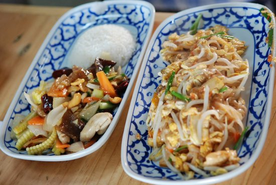 Tak Province, Thailand: Pad Thai and Chichen with Cashew nuts