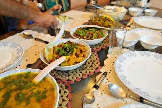 Rajputana Guest House Jaipur : Our dinner at Rajputana, thank you Priti and Mama