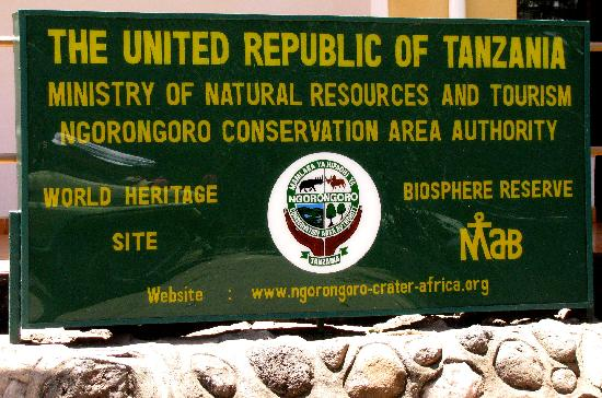 Ngorongoro Conservation Area - Park Entrance