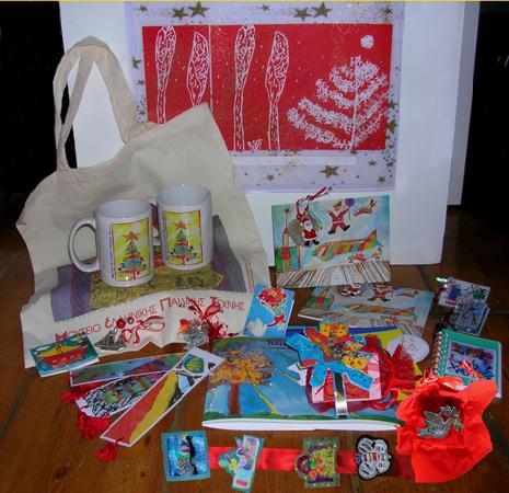 Μουσείο Ελληνικής Παιδικής Τέχνης: Museum's Christmas gift shop