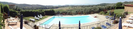 Borgo Sanguineto: Piscina e panorama