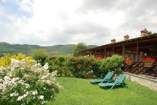 Borgo Sanguineto: Il giardino privato
