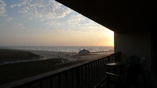 The Dunes Condominiums: Horace Caldwell Pier at sunrise