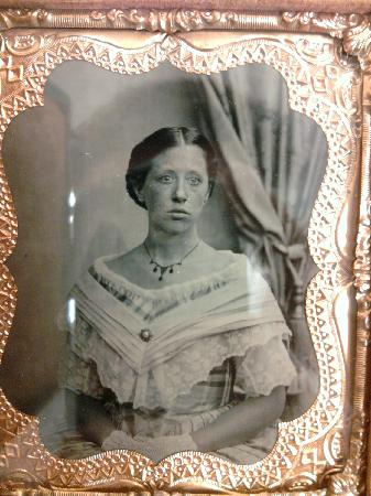 Victorian Photography Studio: Tin type in antique frame