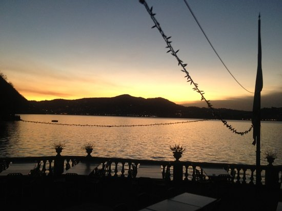 Blevio, Italy: tramonto