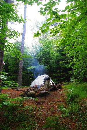 Long Lake, NY: Campsite #1