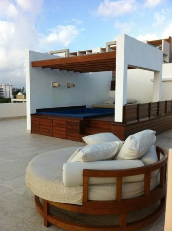 Excellence Playa Mujeres: our rooftop terrace