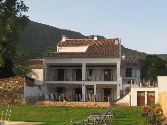La Posada de Alajar: La Posada San Marcos from the side of the pool
