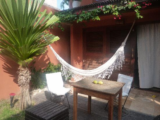 Casa na Praia: terrasse de la chambre avec hamac