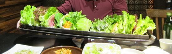 BenJia Korean Restaurant (JinLun Mansion) : Ben Jia Green Wraps Nov11