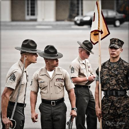 Parris Island, SC: Marine Drill Instructors at work