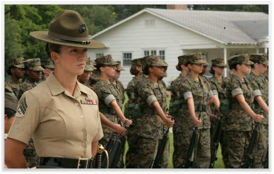 Parris Island, SC: Women Marines are the BEST!