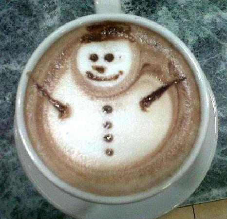 Ah Cacao Chocolate Café: Snowman in Ah Cacao