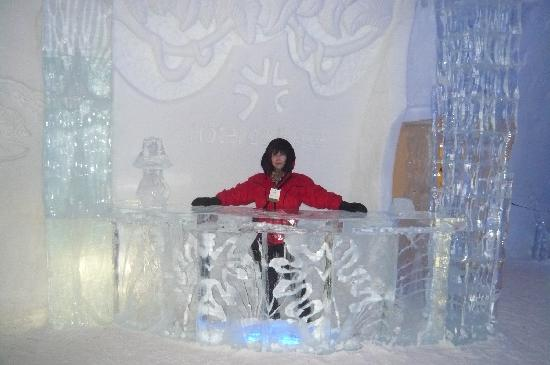 Hotel de Glace: Posing at one of the ice bars