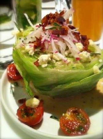 Bol Restaurant: Iceberg and Blue Cheese Salad.