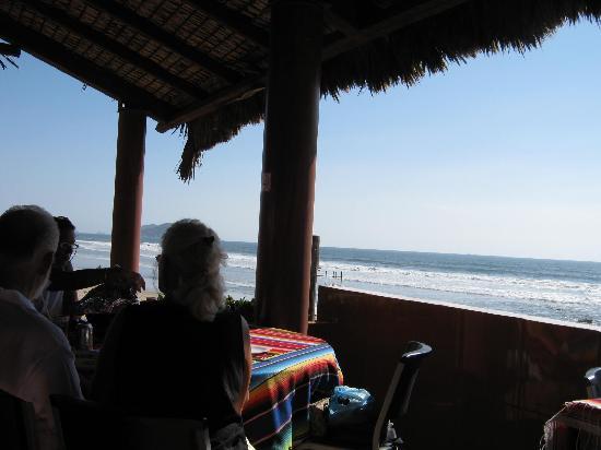 Playa Brujas: View of beach from restaurant