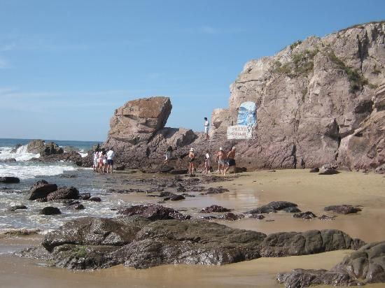 Mazatlan, Mexico: Rocks at End of Beach