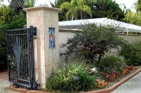 This was a back gate to Largo Botanical Gardens.