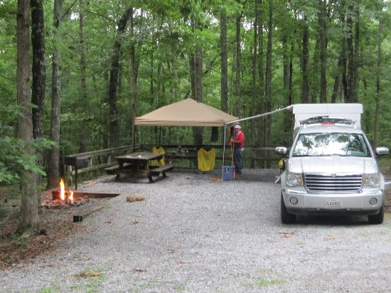 Rising Fawn, GA: Our campsite