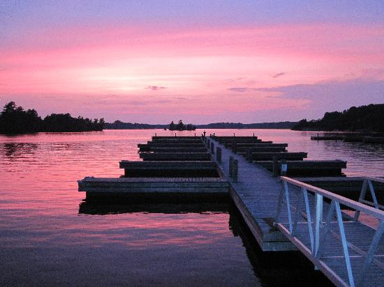 Lake Muskoka : Muskoka Wharf Sunset August 2011