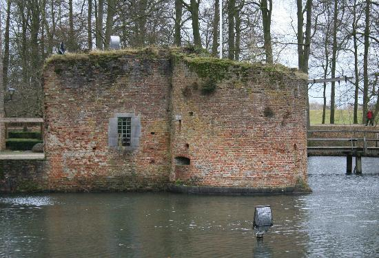 Castle Duurstede: what is left of the wall and one of the smaller towers