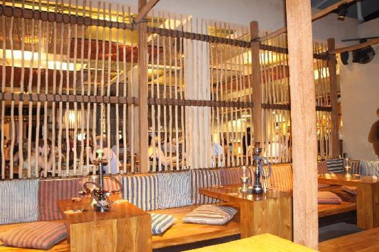 Khaima Restaurant: The back area