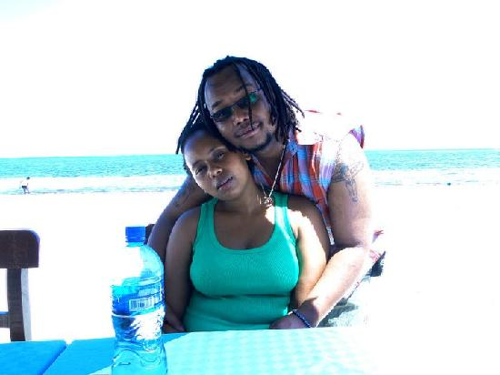 Bahari Dhow Beach Villas: me and my babe