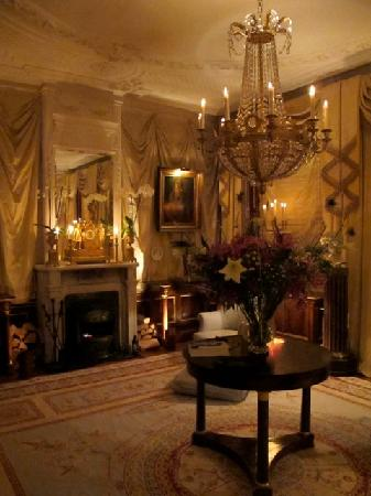 Park Mansion: The sitting room at night