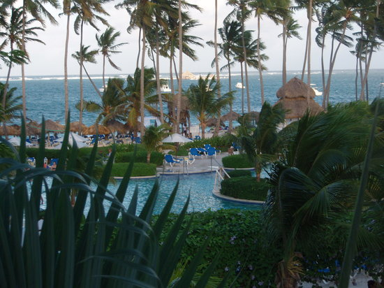 Dreams Palm Beach Punta Cana: Pool area from our building