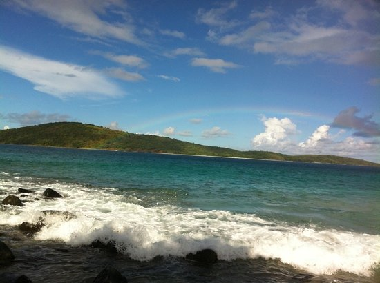 Villa Flamenco Beach:                   honeymoon beach with rainbow