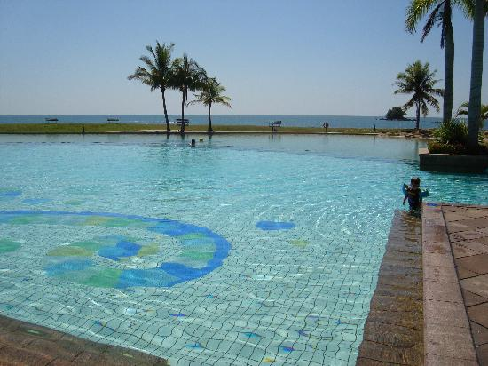 Our see view room better views are from the main building - Centrepoint hotel brunei swimming pool ...