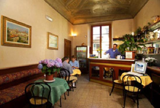 Hotel Casci: our small bar / coffee shop again with fresco ceiling