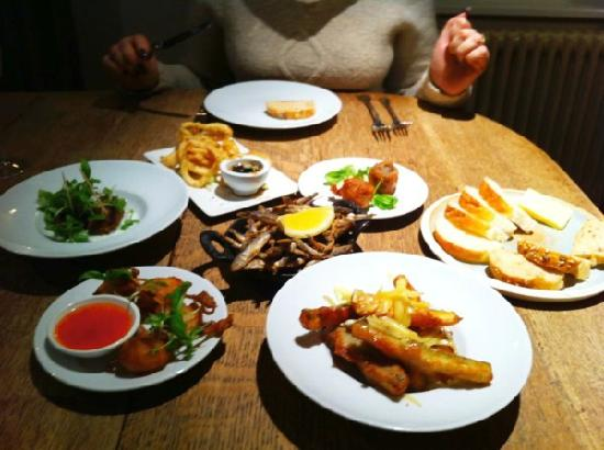 The Plough Inn: Selection of small plates
