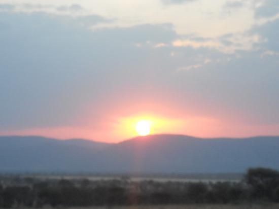 Buffalo Luxury Camp: sunset