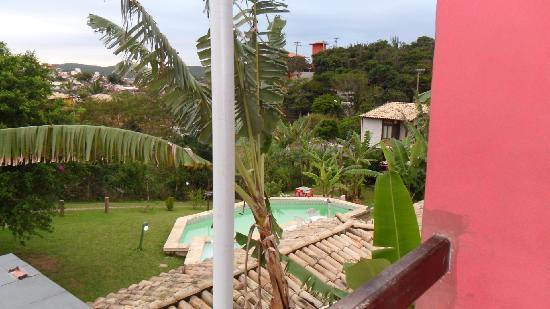 Pousada New Paradise : Vista del balcon a la pileta