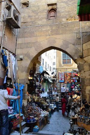 Khan Al-Khalili: archway to the souq
