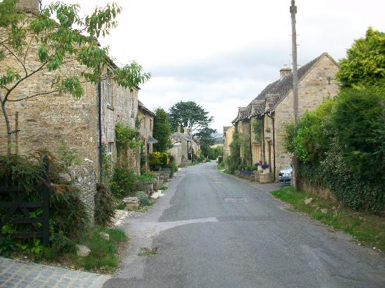 Merryfield B&B: Street out front, loops through village, no through traffic