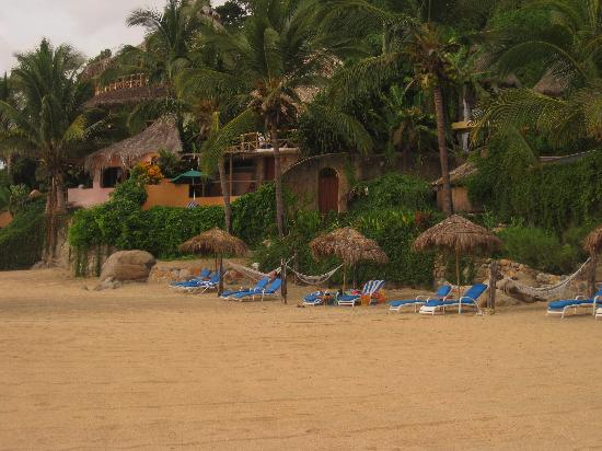 Playa Escondida : Standing on the beach looking toward our room in the second level of the building.