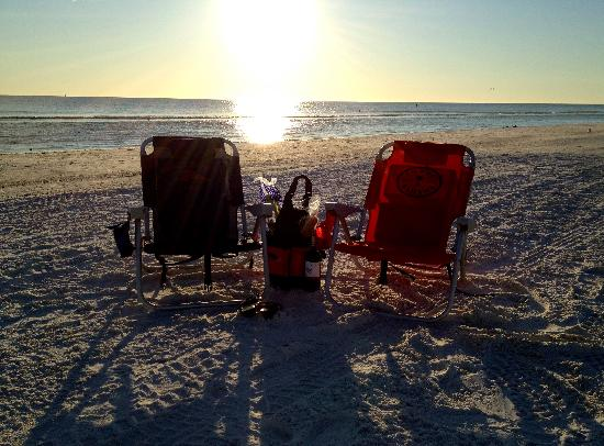 The Ringling Beach House - A Siesta Key Suites Property: Wine? Check. Sunset? Check!  - iPhone 4s
