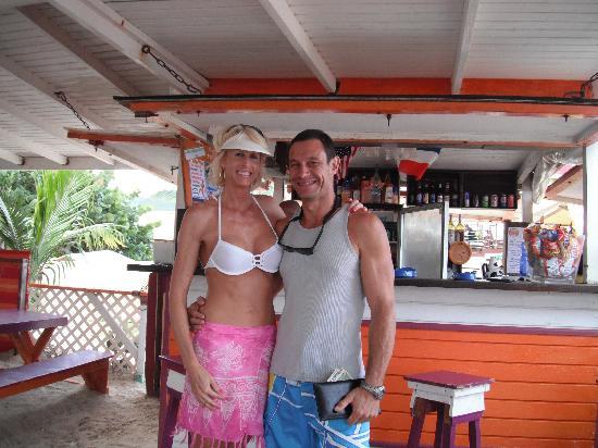 Orange Fever: Happy wife with host