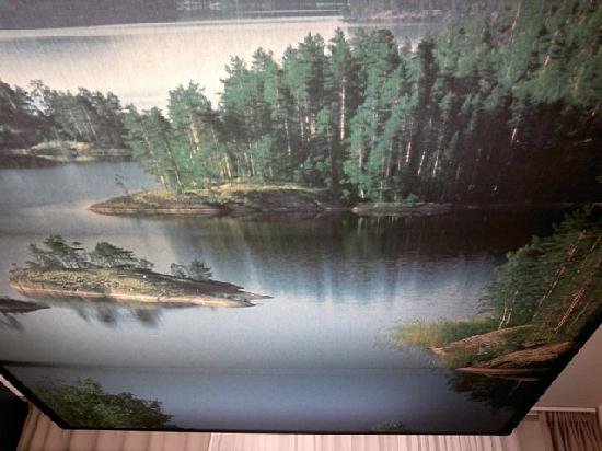 Hotel Helka: Living room ceiling