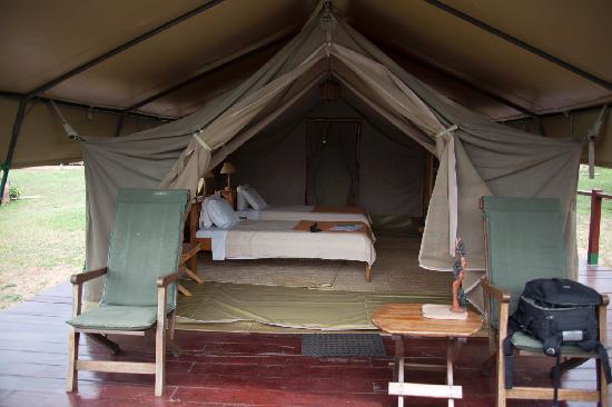 Ngamba Island Tented Camp : Inside of the tents