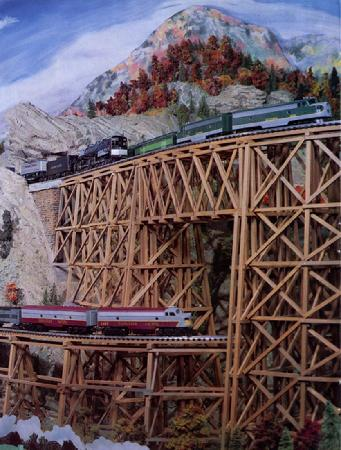 Railroads on Parade: One of the Very Tall Bridges